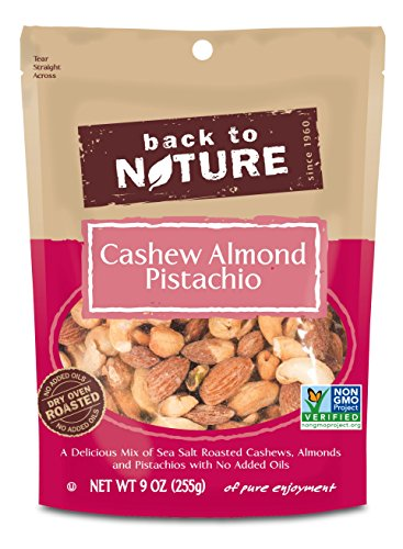 Back to Nature Non-GMO Cashew Almond Pistachio Blend Trail Mix, 9 Ounce (Pack of 9)