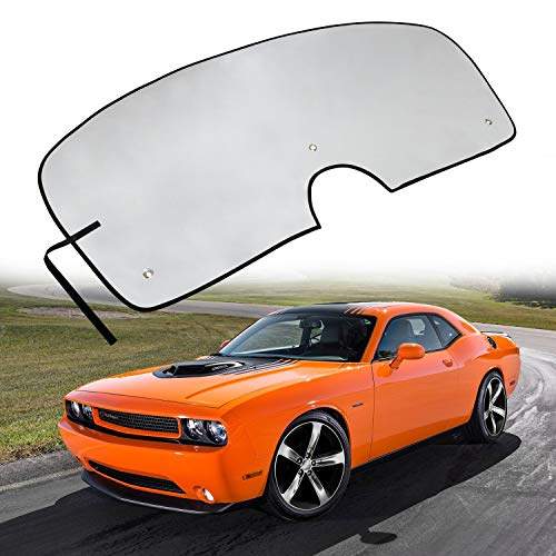 Windshield Sun Shade Visor Sunshade Cover for Dodge Challenger Coupe 2008-2017