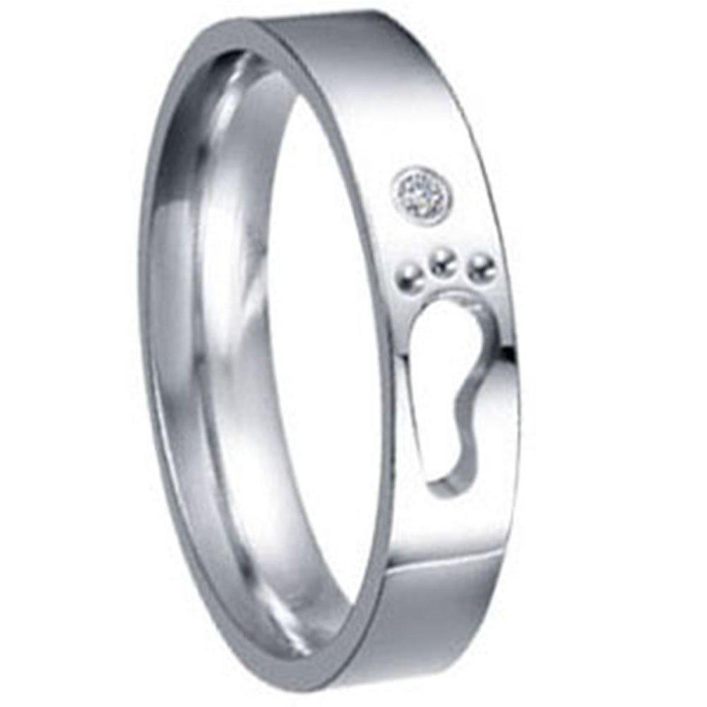 Jewelrywe Junoesque Gift Wedding Band Footprints Lovers 4mm