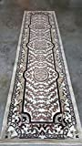 Americana Traditional Long Persian Runner Area Rug Ivory Design 101 (32 Inch X10 Feet)