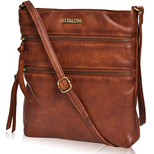 Leather Crossbody Purses for women travel bags small shoulder bag crossover Bag for women by Estalon