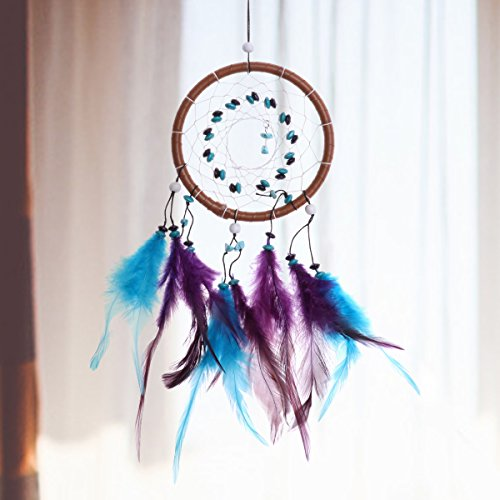 CHICTRY Traditional Dream Catcher Wall Hanging Decoration Handmade Delicate 1 Circle Dream Catcher Net Car Hanging Home Decoration Ornament Gift Colorful One Size by CHICTRY (Image #1)