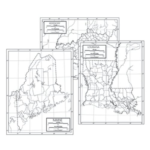 Outline Map Set - 50 STATE OUTLINE MAP SET LAMINATED [Office Product]