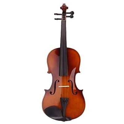 ZGHNAK Violín acústico natural de tamaño completo de 4/4 violín con estuche adhesivo de resina colofonia: Instrumentos musicales