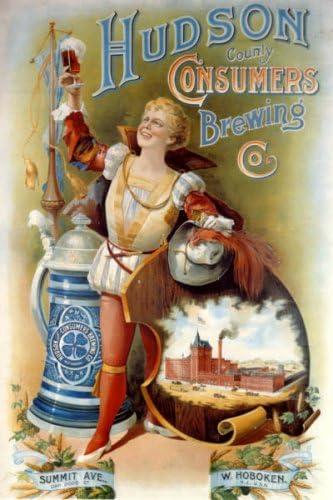 ハドソン消費者醸造ビールLargeヴィンテージポスターREPRO