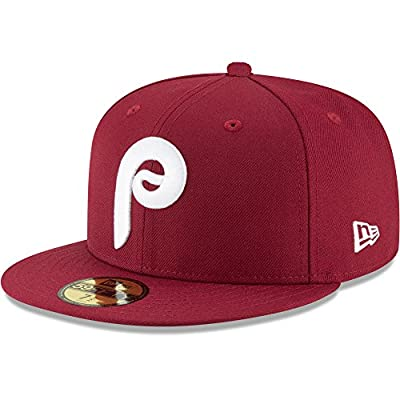 New Era Authentic Philadelphia Phillies Maroon Cooperstown Collection Vintage Fit 59FIFTY Fitted Hat