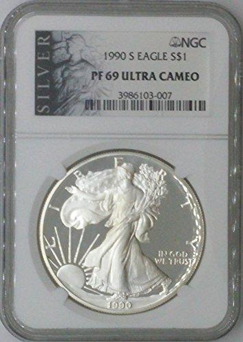 1990 S American Eagle $1 PF69 NGC PF