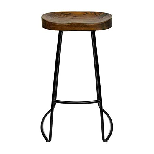 Madera maciza Nordic Bar Stool Cafe Bar Mesa y sillas Silla ...