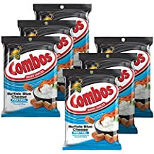 Combos Buffalo Blue Cheese Pretzel Baked Snacks 6.3-Ounce Bag (Pack of 6)