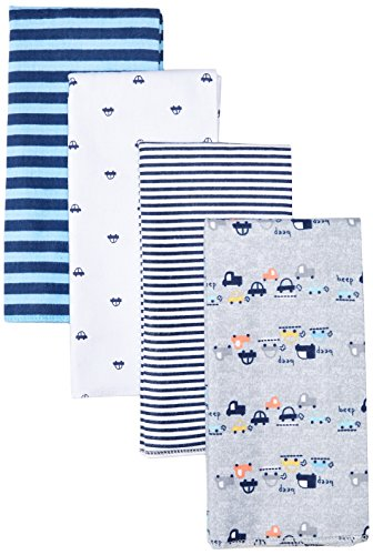 Large Product Image of Gerber Baby Boys' 4 Pack Flannel Burp Cloths