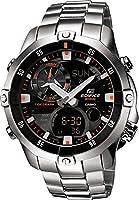 Edifice EMA-100D-1A1VEF Reloj Análogo-Digital, para Hombre, Redondo, color Negro y Plata