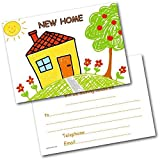 New Address Cards New Home Postcards Kids House Pack of 20 Cards & Envelopes