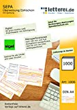 Sigel SEPA Transfer/Payment Slip with Receipt in Box 1000 A4 Sheets Bottom Micro-Perforated with Free Download Template