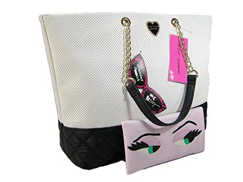 New Betsey Johnson Logo XL Purse Handbag Tote & Wristlet ...