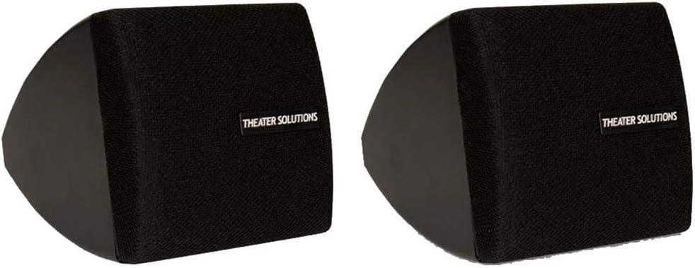 Theater Solutions TS30B Mountable Indoor Speakers Black Bookshelf Pair
