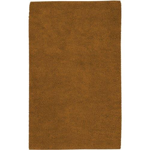 Surya Aros AROS-4 Shag Hand Woven 100% New Zealand Felted Wool Hot Cocoa 8' x 10'6