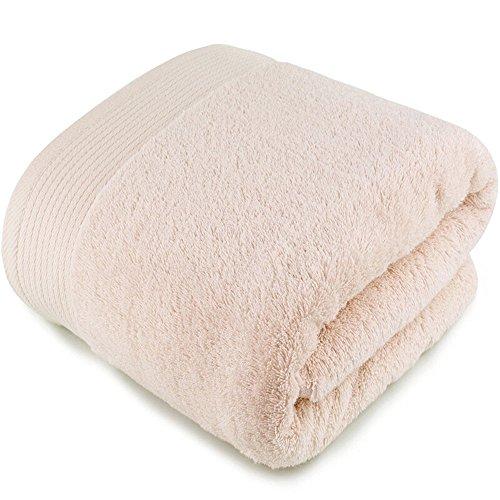 Grueso Con Cómodo Absorbente Suave Cm Cordón Bebé 150 Baño De Disponible color Y Beige 70 Toalla Algodón × Blanco tH81q