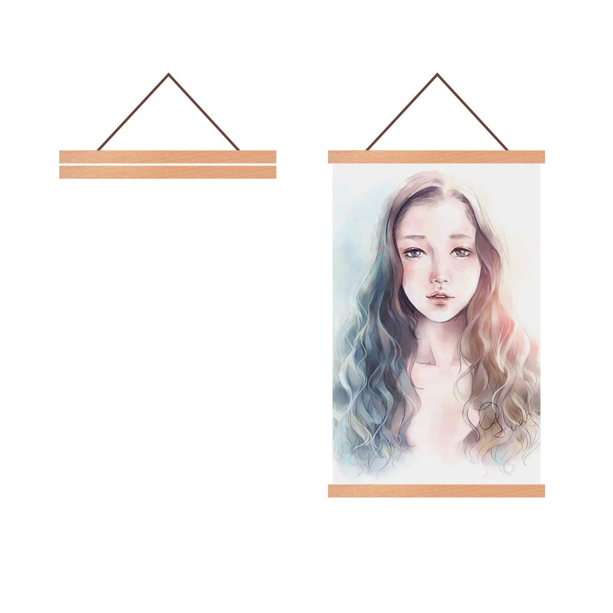 Radezon 12x16 12x18 11x17 Poster Frame, Magnetic Poster Frame Hanger for Photo Picture Canvas Artwork Wall Hanging (12 inch x 2 Pack)