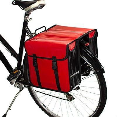 BikyBag - Doble Alforjas para Bicicletas Impermeables (Rojas ...