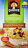 Quaker Weight Control Instant Oatmeal, Maple and Brown Sugar, Contains 8 Packets (Pack of 1)