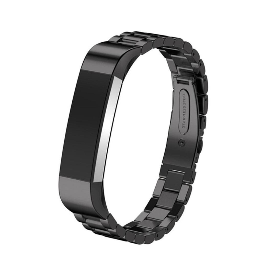 Lywey Replacement Bands for Fitbit Ace, Luxury Quick Release Clasp Stainless Steel Smart Watch Band (Black)