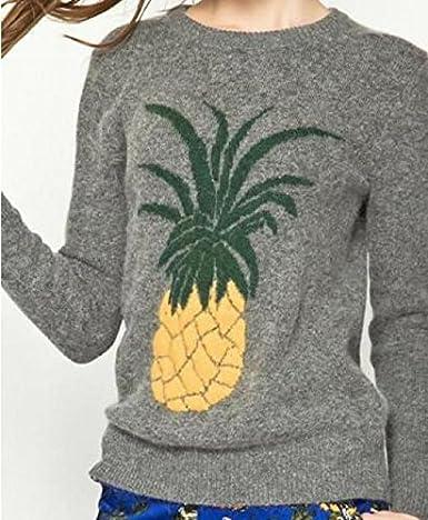 fdb33e9c51bc6 Ananas jacquard Pull de femme  Amazon.fr  Vêtements et accessoires