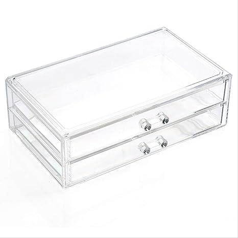 Caja de almacenamiento de cajones de maquillaje, organizador cosmético acrílico 30 * 19 * 10.5cm 4: Amazon.es: Belleza