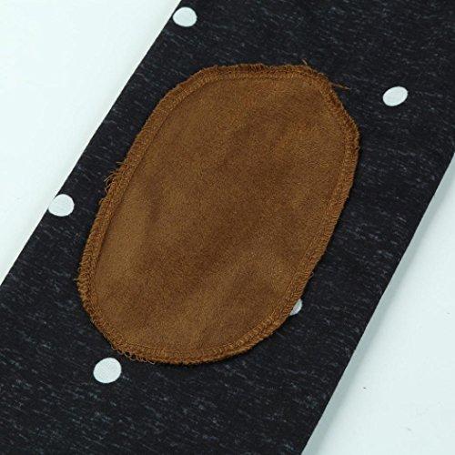 con blusa mujer lunares parte OverDose superior casual suéter cuello redondo Negro de Cfaw1qx