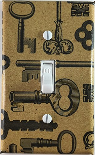 Skeleton Key Design Decor Decorative Single Toggle Light Switch Wall Plate