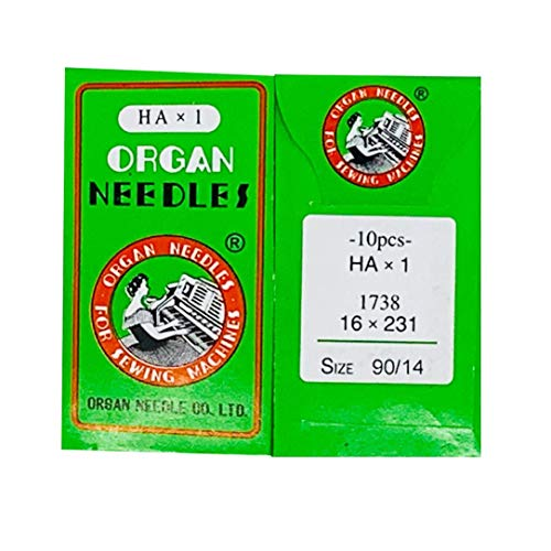 Organ Sewing Machine Needles Home-use (10 Needles/Pack), Size 90/14