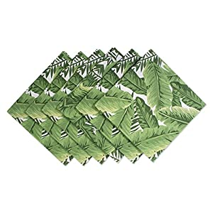 "DII 100% Cotton, Machine Washable, Oversized Basic Everyday 20x20"" Napkin Set of 6, Banana Leaf"