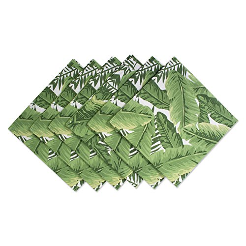 DII CAMZ37395 100% Cotton, Machine Washable, Oversized Basic Everyday 20x20 Napkin Set of 6, Banana Leaf, Set