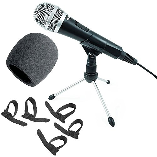 Price comparison product image CAD U1 USB Dynamic Recording Microphone with On Stage Foam Windscreen + Cable Ties Pack of Five.