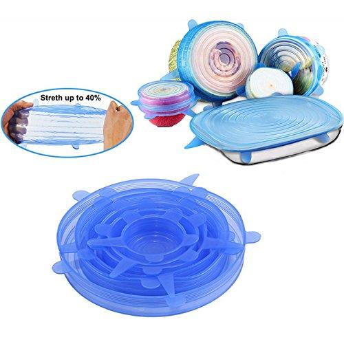 Soviton 6 piezas de tapas de silicona para cuencos de alimentos ...