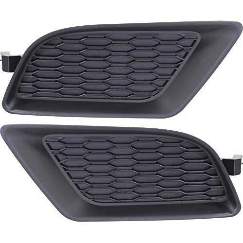 Fog Lamp Cover Set of 2 Plastic Black Right and Left Side for Dodge Charger 11-14