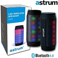 Astrum ST230 Portable Wireless Bluetooth LED Speaker - Colorful LED Light Pulse Wireless Speaker w Built-in Microphone for Apple iPhone, iPad, Samsung, LG, Sony, HTC, Other Bluetooth Enabled Devices