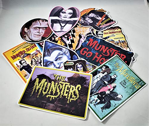 The Munsters Vinyl Stickers Decals Set of 12 Laptop Guitar Case Skateboard Notebook Car Light Pole Van (Permanent)]()