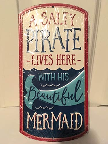 Pirate Mermaid Metal Sign