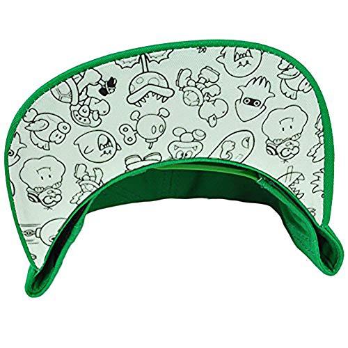 3edcd1505b3 Fad Habit Super Mario 1-Up Mushroom Collectible Snapback Hat Green ...
