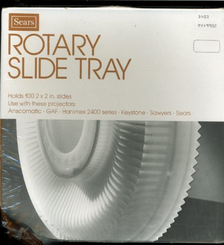Sears Rotary Slide Tray - Holds 100 Slides - For use with GAF, Anscomatic, Haminex 2400 Series, Keystone, Sawyers, Sears by Sears: 3-9902