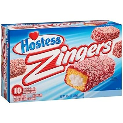 Hostess Zingers Raspberry,Iced Cake with Creme Filling, 10 Per Box (Pack of  2)