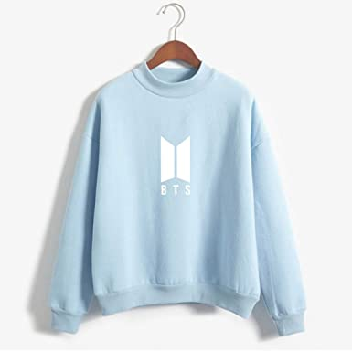 FLAMINGO_STORE Hoodies for Women BTS Hoodies for Women Men Bangtan Boys BTS Album Hoodie Blue