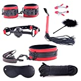 ZHS 8Pcs/Set BDSM Bondage Erotic Toys Fetish Nipple Clamps SM Esposas Para El Whip Menottes Flogger Handcuffs Sex Toys (1PC)