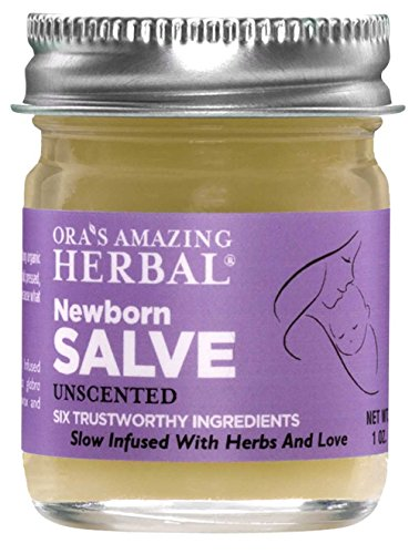 Newborn Salve, Natural Diaper Cream, Hypoallergenic Baby Ointment Gentle Healing, Diaper Rash Ointment, Moisture Barrier, Paraben Free Baby Moisturizer, Soap Free Cleanser, Coconut Free Salve (1 oz)