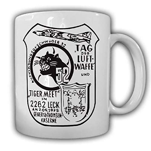 Day of The Air Force Tiger Meet Reconnaissance Wing 52 Bundeswehr Anniversary - Coffee Cup Mug