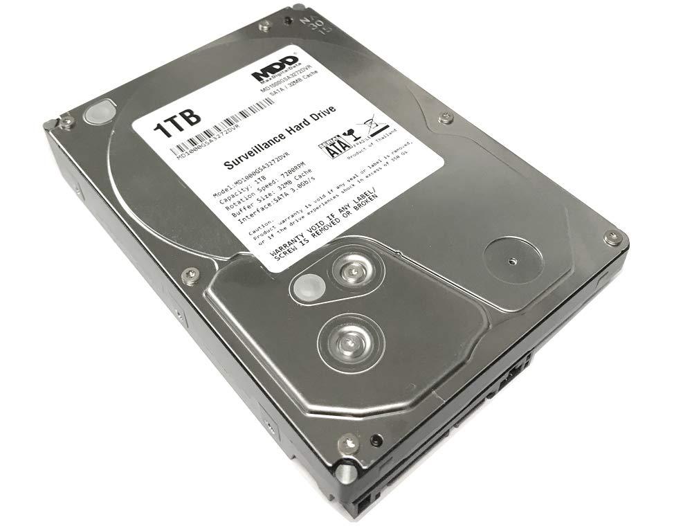 MaxDigitalData 1TB 32MB Cache 7200PM SATA 3.0Gb/s 3.5'' Internal Surveillance CCTV DVR Hard Drive (MD1000GSA3272DVR) - w/ 2 Year Warranty by MaxDigitalData