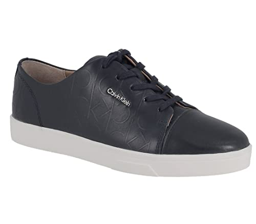 Calvin Klein Women's Imilia Nappa Leather Deep Navy E2812 Trainers Blue  Size: 3.5