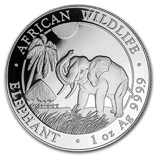 2019 1 oz Somalia Silver Elephant Coin BU