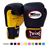 Twins Special Muay Thai Boxing gloves (Air Flow - Yellow/Black, 10 oz)