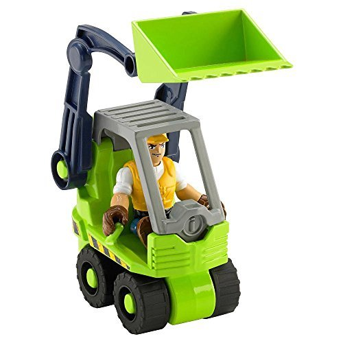 Jack Front Loader - Fisher-Price Rescue Heroes - Jack Hammer & Front Loader by Rescue Heroes